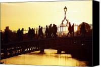 Walked Canvas Prints - Hapenny Bridge, Dublin, Co Dublin Canvas Print by The Irish Image Collection