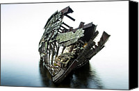 Ribs Canvas Prints - Harvey Neelon shipwreck so they say... Canvas Print by Jakub Sisak