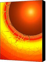 Second Chakra Canvas Prints - Healing-Light No. 07 Canvas Print by Ramon Labusch