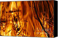 Incandescent Canvas Prints - Heat Canvas Print by Michal Boubin
