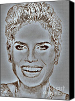 Jem Fine Arts Mixed Media Canvas Prints - Heidi Klum in 2010 Canvas Print by J McCombie