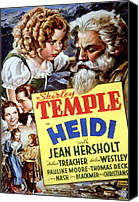 1930s Movies Canvas Prints - Heidi, Shirley Temple, Jean Hersholt Canvas Print by Everett