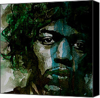 Singer Songwriter Painting Canvas Prints - Hendrix Canvas Print by Paul Lovering