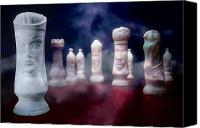 Chess Set Canvas Prints - Her Majesty Canvas Print by Tom Mc Nemar