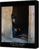 Dobe Canvas Prints - Home Sweet Home Canvas Print by Rita Kay Adams