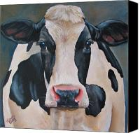 Cow Canvas Prints - Honey Canvas Print by Laura Carey