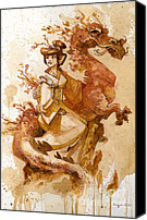 Steampunk Canvas Prints - Honor and Grace Canvas Print by Brian Kesinger