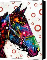 Horse Art Canvas Prints - Horse Canvas Print by Dean Russo