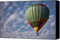 Hot Air Balloon Canvas Prints - Hot Air Balloon Canvas Print by Zoe Ferrie