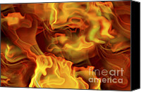Incandescent Canvas Prints - Hot Space Canvas Print by Michal Boubin