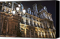 Architecture Canvas Prints - Hotel de Ville in Paris Canvas Print by Elena Elisseeva