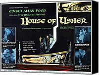 Horror Canvas Prints - House Of Usher, Aka The Fall Of The Canvas Print by Everett