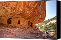 Cedar Canvas Prints - House on Fire Anasazi Indian Ruins Canvas Print by Gary Whitton