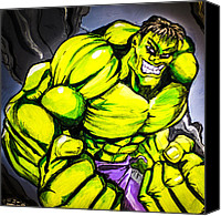 Super Heroes Canvas Prints - Hulk Canvas Print by Chris  Leon