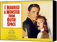 1950s Movies Canvas Prints - I Married A Monster From Outer Space Canvas Print by Everett