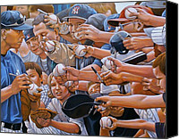 Baseball Painting Canvas Prints - I Owe You Canvas Print by Curtis James