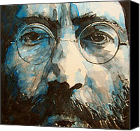 Icon Painting Canvas Prints - I was the Dreamweaver Canvas Print by Paul Lovering