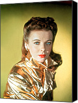 Gold Lame Canvas Prints - Ida Lupino Canvas Print by Everett
