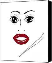Illustration Canvas Prints - Illustration of a woman in fashion Canvas Print by Frank Tschakert