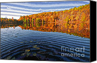 Impression Canvas Prints - Impression of Autumn Lake Canvas Print by Charline Xia