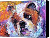 Puppies Canvas Prints - Impressionistic Bulldog painting  Canvas Print by Svetlana Novikova