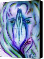 Prayer Pastels Canvas Prints - In my Prayers Canvas Print by Robin Monroe