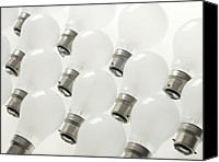Incandescent Canvas Prints - Incandescent Light Bulbs Canvas Print by Tek Image