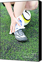 Sports Photo Canvas Prints - Injured Ankle Canvas Print by Photo Researchers