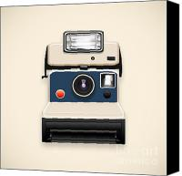 Insert Poster Canvas Prints - Instant Camera With A Blank Photo Canvas Print by Setsiri Silapasuwanchai