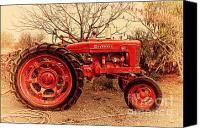 Farm Equipment Canvas Prints - International Harvester McCormick Farmall Farm Tractor . 7D10320 Canvas Print by Wingsdomain Art and Photography