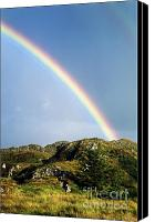 Rolling Hills Canvas Prints - Irish Rainbow Canvas Print by John Greim