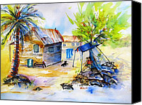 Carlin Blahnik Painting Canvas Prints - Island Life Shade Canvas Print by Carlin Blahnik