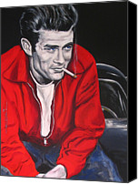 Dean Canvas Prints - James Dean Put His Picture in a Picture Show Canvas Print by Eric Dee