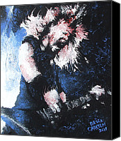 Energetic Canvas Prints - James Hetfield Canvas Print by Brian Carlton