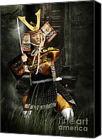Martial Arts Canvas Prints - Japanese Samurai Doll Canvas Print by Christine Till - CT-Graphics