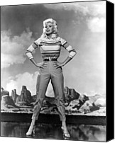 1950s Fashion Canvas Prints - Jayne Mansfield, 1957 Canvas Print by Everett