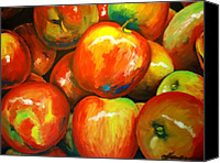 Original Canvas Prints - Jazz Apples Canvas Print by Dan Haraga