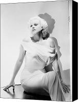 Harlow Canvas Prints - Jean Harlow (1911-1937) Canvas Print by Granger