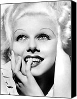 Harlow Canvas Prints - Jean Harlow, Mgm, Ca. Early 1930s Canvas Print by Everett