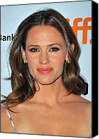 Gold Earrings Photo Canvas Prints - Jennifer Garner At Arrivals For Butter Canvas Print by Everett