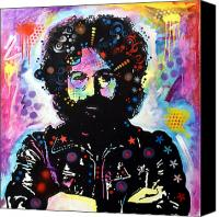 Grateful Dead Canvas Prints - Jerry Garcia Canvas Print by Dean Russo