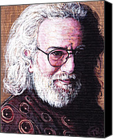 Grateful Dead Canvas Prints - Jerry Garcia Canvas Print by Tom Roderick
