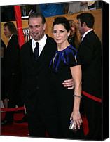 Jesse James Canvas Prints - Jesse James, Sandra Bullock At Arrivals Canvas Print by Everett