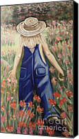 Tom Boy Canvas Prints - Jessicas Flowers Canvas Print by Gale H Rogers