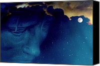 Heavens Canvas Prints - JESUS in the night.. Canvas Print by Al  Swasey