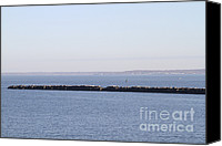 Long Island Canvas Prints - Jetty In Long Island Sound Canvas Print by Photo Researchers, Inc.