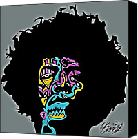Popstract Canvas Prints - Jimi Hendrix Canvas Print by Kamoni Khem