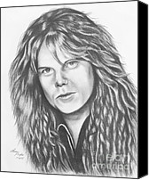 Joey Canvas Prints - Joey Tempest Canvas Print by Lena Auxier