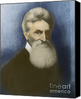 Abolitionist Canvas Prints - John Brown, American Abolitionist Canvas Print by Photo Researchers
