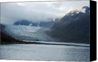 Ark Canvas Prints - John Hopkins Glacier Canvas Print by Michael Peychich